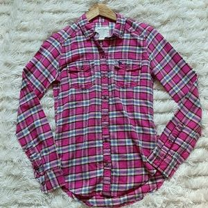 3/$30--Abercrombie and Fitch Plaid Top